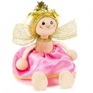 IMP-EX rugós angyalka figura rózsaszín ruhában 3843-72