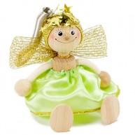 IMP-EX rugós angyalka figura zöld ruhában 3843-70