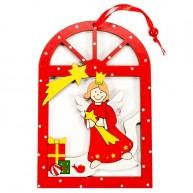 Karácsonyi ablakdísz - angyalkás 4093-B