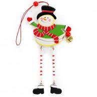 Fa karácsonyi ablakdísz hóember 4096B
