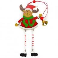 Fa karácsonyi ablakdísz rénszarvas 4096C