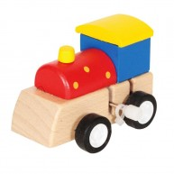 Felhúzható játék mozdony sárga tetős 3160C