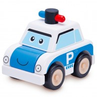 Wonderworld szétszedhető játék rendőrautó fából 4387