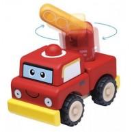 Wonderworld szétszedhető játék tűzoltóautó fából 4456