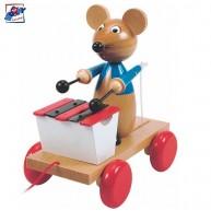 Woody húzható játék - xilofonozó egérke 90197