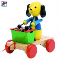 Woody húzható játék - xilofonozó kutyus 90202