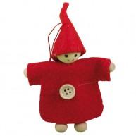 IMP-EX karácsonyfadísz kisfiú egygombos textilkabátban 4086A