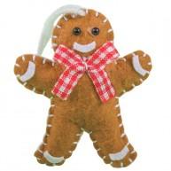 Karácsonyfadísz filc mézi 405597