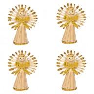 Karácsonyfadísz angyalkák 4db aranyozott 3580C