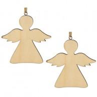 Karácsonyfadísz natúr angyal 4434A
