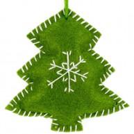 Karácsonyfadísz zöld fenyőfa filcből  4437-B