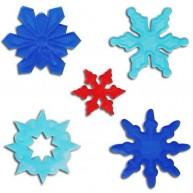 Zselés ablakdísz - hópelyhek és jégkristályok 3845-C