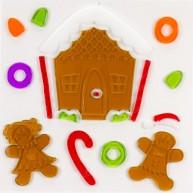 IMP-EX karácsonyi ablakzselé dísz mézeskalács házikó 4414F