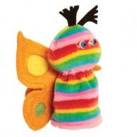 Puppet World ujjbáb pillangó szivárványos 2907