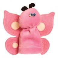 Puppet World plüss ujjbáb rózsaszín pillangó 2909