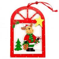Karácsonyi ablakdísz - rénszarvasos 4093-A