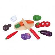 Viga Szeletelhető játék zöldségek fadobozban 0574