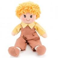 BUMI Textil kisfiú baba barna nadrágban 25 cm 4311H