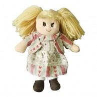 BUMI Textil baba szivecskés ruhában 25 cm 3332H