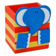 Fa ceruzatartó elefántos csipeszes manccsal 3700D