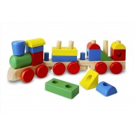 Melissa & Doug fa vonat építőkockákkal, 45cm-es   572