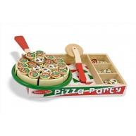 Melissa & Doug szeletelhető pizza fadobozban 167