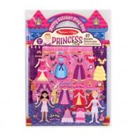 Melissa & Doug pufi matrica készítő könyv hercegnős 9100