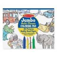 Melissa & Doug Jumbo színező füzet 50db fiús mintával 4226