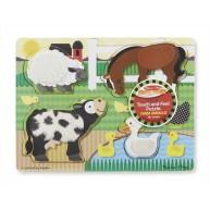 Melissa & Doug puzzle tapintós felülettel, farm 4327