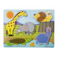 Melissa & Doug fajáték - magasított puzzle tapintható felülettel 4328