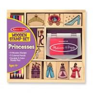 Melissa & Doug Nyomda szett 9db pecséttel és 5db színes ceruzával, hercegnős    12418