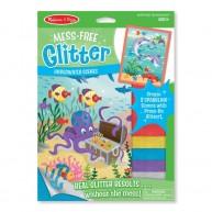 Melissa & Doug glitteres matricakészítő könyv tengeri élőlények 9510