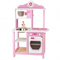 VIGA játékkonyha fából kiegészítőkkel - rózsaszín lányos 3447