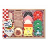 Melissa & Doug játék szendvics készítés fából 10513