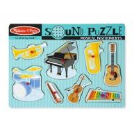 Melissa & Doug Puzzle hangot adó formákkal - Hangszerek 10732