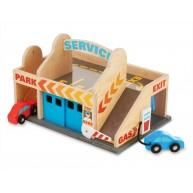 Melissa & Doug játék autómosó és garázs 2 kocsival 9271