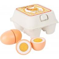 SMALL FOOT szeletelhető fa játék tojások tartóban 10591