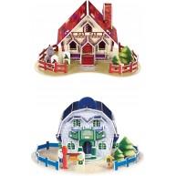 Fa 3D házikó modellek 4db 8924