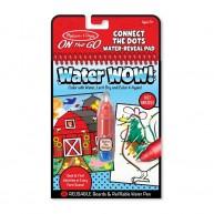 Melissa & Doug vízzel kiszínezhető füzet számok szerint farmos Water WOW! 4 képes 9485