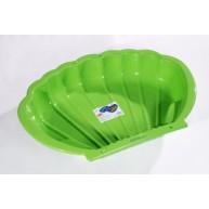 Dohány homokozó kagyló formájú kis medencének is használható zöld 2075