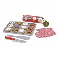Melissa & Doug szeletelhető játék sütemények tálcával és kiegészítőkkel 4074