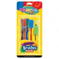 Colorino Kids festő ecset kicsiknek 6db-os készlet 39031