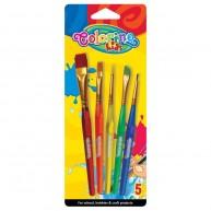 Colorino Kids ecset 5db-os szett műanyag nyéllel 32599