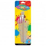 Colorino Kids Ecsetkészlet - 8 darabos, natúr 39000PTR