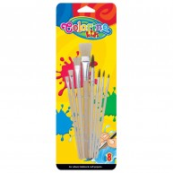 Colorino Kids Ecsetkészlet - 8 darabos, natúr 89415PTR
