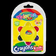 Colorino Kids zsírkréta csillag alakú a legkisebbeknek 33015
