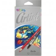 Colorino Artist Aquarell színes ceruzák + ecset   65528PTR