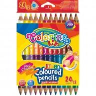 Colorino JUMBO háromszögű vastag 12 db-os, 24 színű ceruzakészlet  51880PTR