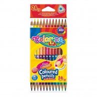 Colorino háromszögű 12db-os színes ceruzakészlet 24 színnel   33046PTR