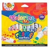 Colorino nyomdás filctoll 10db különböző mintával 34623